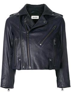 укороченная байкерская куртка Liyo Zadig & Voltaire