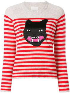 свитер Lilo  в полоску с кошкой Zadig & Voltaire