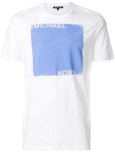 """футболка дизайна """"колор-блок"""" с принтом логотипа Michael Michael Kors"""