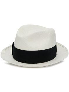 шляпа с контрастной лентой Prada