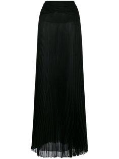 плиссированная прозрачная юбка-макси  Roberto Cavalli