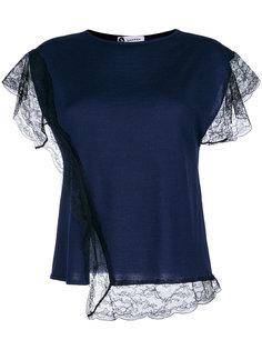 футболка с кружевными деталями Lanvin