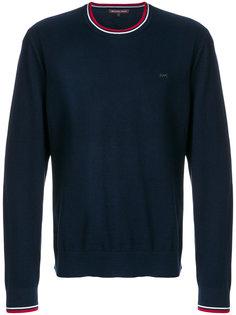 свитер с круглым вырезом с контрастной окантовкой Michael Michael Kors