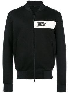 куртка-бомбер с нашивкой логотипа Fendi