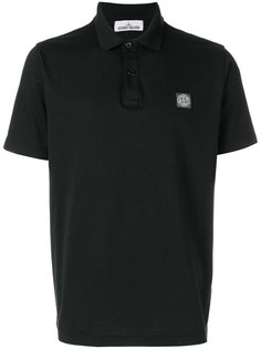 logo patch polo shirt Stone Island