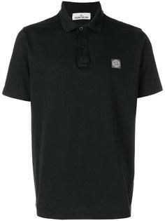 logo patch polo shirt Stone Island