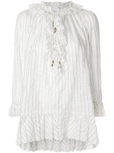 блузка в полоску с оборками Zimmermann