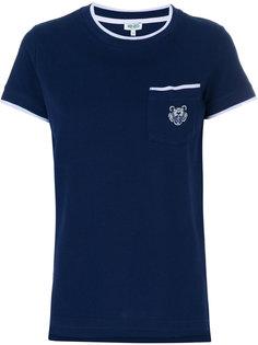 футболка с вышитым логотипом Kenzo