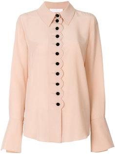 блузка с зазубренными краями с пуговицами Chloé