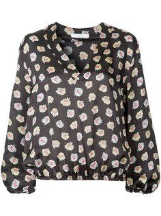 блузка с V-образным вырезом и цветочным принтом Astraet
