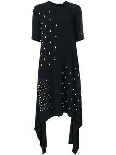 асимметричное платье с жемчугом  Stella McCartney