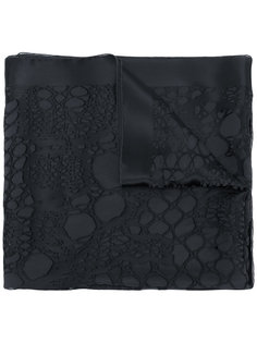 текстурный атласный шарф Roberto Cavalli