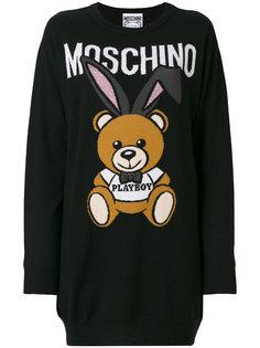 свитер Playboy bear Moschino