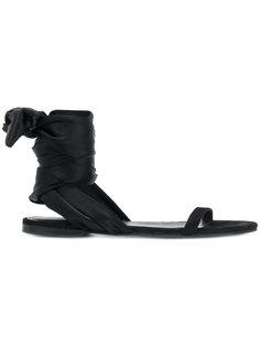 flat tie sandals Cédric Charlier