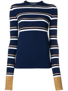 пуловер слим в полоску  Cédric Charlier