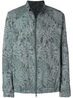 tone-on-tone leaf print jacket Etro