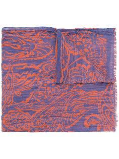 двухцветный плиссированный шарф Etro