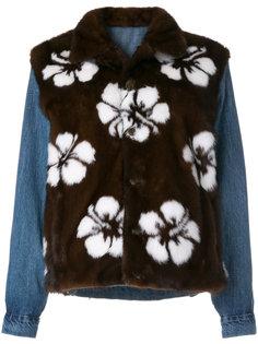 куртка с многослойным дизайном и цветочным принтом Simonetta Ravizza