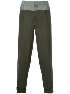 contrast detail trousers Kolor