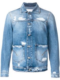 джинсовая куртка с эффектом потертости Dondup