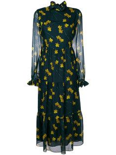 платье с принтом орхидей Gala Borgo De Nor