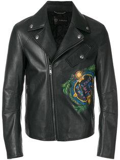 байкерская куртка с принтом логотипа Versace
