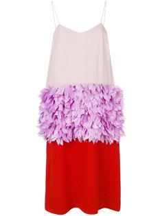 трехцветное платье миди  Marni