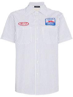 рубашка в полоску с нашивкой  R13