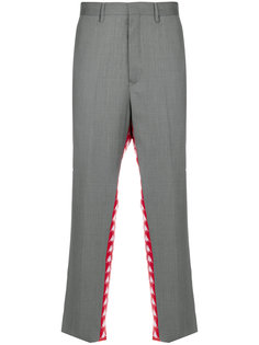 брюки с принтом логотипа Kappa