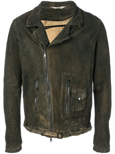 байкерская куртка с эффектом помятости Giorgio Brato