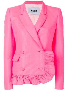 пиджак с оборкой  MSGM