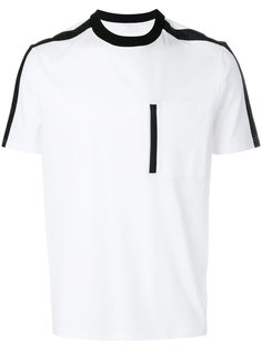футболка-поло с контрастной окантовкой  Prada