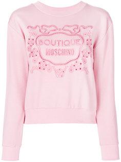 свитер с логотипом Boutique Moschino
