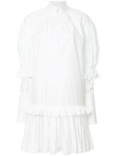 платье-рубашка с оборками  Ellery