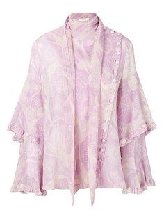 блузка с многослойными рукавами Chloé