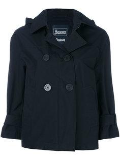 двубортная куртка с капюшоном  Herno