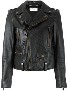 байкерская куртка с молнией  Saint Laurent