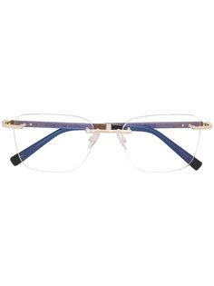 очки в квадратной оправе Gold And Wood