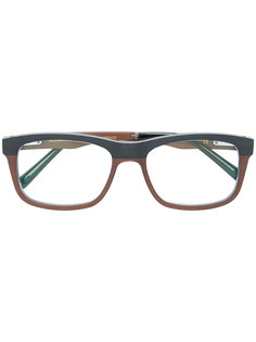 square frame glasses Gold And Wood