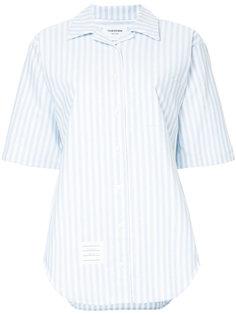 рубашка с короткими рукавами в полоску  Thom Browne