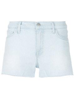 шорты в полоску с вырезами  J Brand