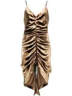 асимметричное платье со сборкой Misha Collection
