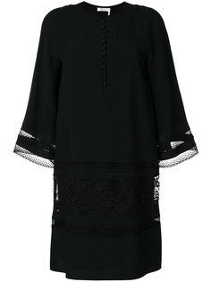 платье шифт с планкой на пуговицах  Chloé