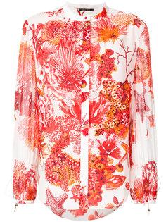блузка с потайной застежкой и принтом Roberto Cavalli