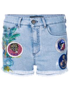 джинсовые шорты с нашивками Mr & Mrs Italy