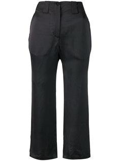 атласные укороченные брюки  Aalto