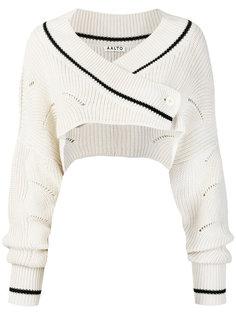 укороченный свитер с запахом Aalto