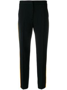 укороченные брюки с полосками по бокам  MSGM