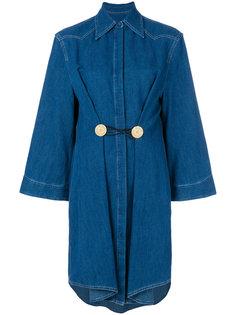 джинсовое платье-рубашка шифт  Mm6 Maison Margiela
