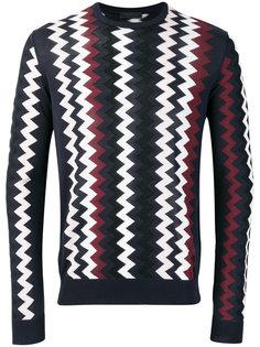свитер с зигзагообразным узором Prada